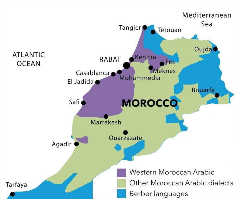 Moroccan-Arabic-dialect-map